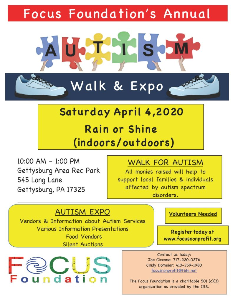 Autism Walk & Expo 4-4-2020 Flyer